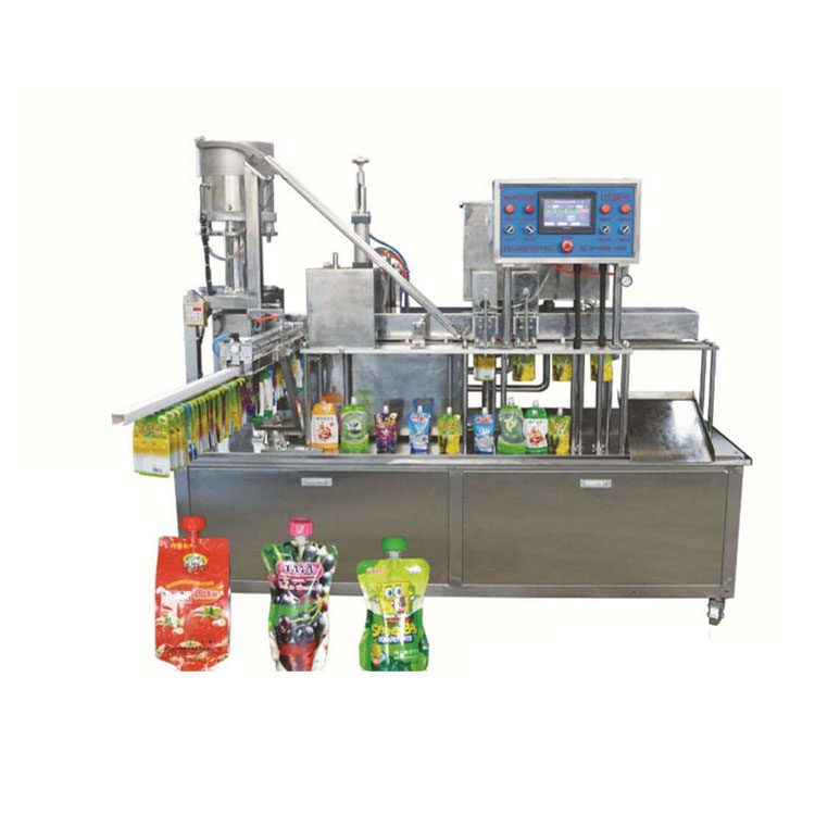 High Speed Spout Pouch Capping Machine Automatic Litchi